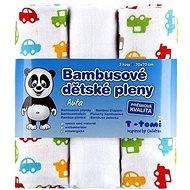 T-tomi Plienky bambusové 3 ks – autá - Detské plienky