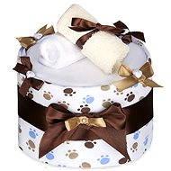 T-tomi Plienková torta LUX veľká - biele labky - Plienková torta