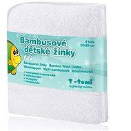 T-tomi Bambusové žinky 4 ks - Biela - Špongia