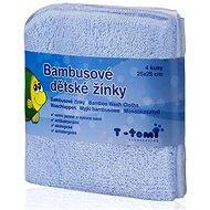 T-tomi Bambusové žinky 4 ks - Modrá - Špongia