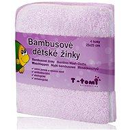 T-tomi Bambusové žinky 4 ks - Ružová - Špongia