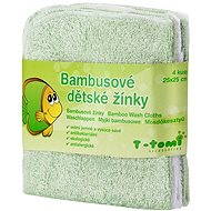 T-tomi Bambusové žinky 4 ks - Zelená - Špongia