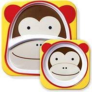 Skip hop Zoo Jedálenská súprava - Opička - Detská jedálenská súprava
