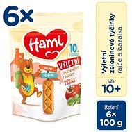 Hami Zeleninové tyčinky Paradajka a Bazalka 6× 100 g - Chrumky pre deti