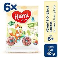 Hami BIO Ryžové kolieska Hruška a Lesné plody 6× 40 g - Chrumky pre deti