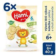 Hami BIO Ryžové kolieska s Jablkami a príchuťou Pomaranča 6× 40 g - Chrumky pre deti