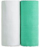 T-tomi TETRA Osušky 2 ks white + green