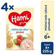 Hami Kaša ryžová – jahodová 4× 225 g