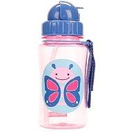 Skip hop Zoo Fľaštička so slamkou - Motýlik - Fľaša na pitie pre deti