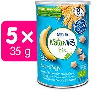 NATURNES BIO NutriPuffs Banán 5× 35 g - Chrumky pre deti