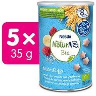 NATURNES BIO NutriPuffs Malina 5× 35 g - Chrumky pre deti