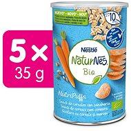 NATURNES BIO NutriPuffs Mrkva 5× 35 g - Chrumky pre deti