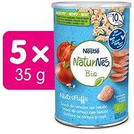 NATURNES BIO NutriPuffs Paradajka 5× 35 g - Chrumky pre deti