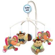 BABY MIX Plyšový kolotoč nad postieľku – Slony a opice