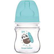 Canpol babies EXOTIC ANIMALS 120 ml modrá - Dojčenská fľaša