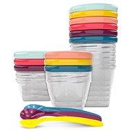 BABYMOOV Multi Set of Coloured Bowls with Lids - Bowl Set