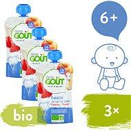 Good Gout BIO Ovčí jogurt s jablkom a jahodou 3× 90 g - Príkrm