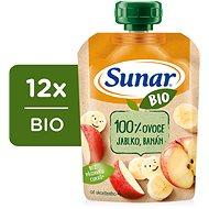 Sunar Organic Apple, Banana 12× 100g - Baby Food