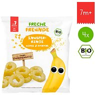 Freche Freunde BIO Chrumkavé krúžky – Proso a banán 4× 20 g - Chrumky pre deti