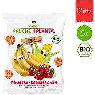 Freche Freunde BIO Křupky Kukuřice, banán a jahoda 5× 25 g