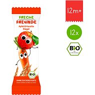 Freche Freunde BIO Ovocná tyčinka – Jablko a mrkva 12× 23 g - Sušienky pre deti