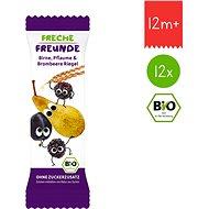 Freche Freunde BIO Ovocná tyčinka – Hruška, slivka a černica 12× 23 g - Sušienky pre deti