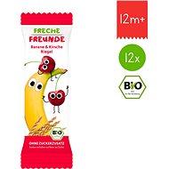 Freche Freunde BIO Ovocná tyčinka – Banán a čerešńa 12× 23 g - Sušienky pre deti