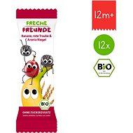 Freche Freunde BIO Ovocná tyčinka - Banán, červené hrozno a čierna jarabina 12× 23 g - Sušienky pre deti
