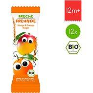 Freche Freunde BIO Ovocná tyčinka – Mango a pomaranč 12× 23 g - Sušienky pre deti