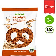 Freche Freunde BIO Špaldové praclíky s cícerom 3× 75 g - Sušienky pre deti