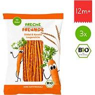 Freche Freunde BIO Špaldové tyčinky s mrkvou 3× 75 g - Sušienky pre deti