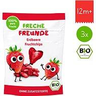 Freche Freunde BIO Ovocné chipsy – Jahoda 3× 12 g - Sušienky pre deti