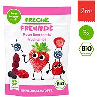 Freche Freunde BIO Ovocné chipsy – Lesné plody mix  3× 10 g - Sušienky pre deti