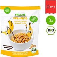 Freche Freunde BIO Cereálie – Chrumkavé čísla – Banán a vanilka 3× 125 g - Sušienky pre deti