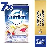 Nutrilon Pronutra Krupicová kaša sovocím GOOD NIGHT 7× 225 g - Mliečna kaša
