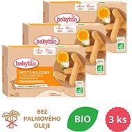 BABYBIO Piškóty s esenciálnym olejom zo sladkého pomaranča 3× 120 g - Sušienky pre deti
