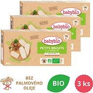 BABYBIO Sušienky s lieskovými orieškami 3× 160 g - Sušienky pre deti