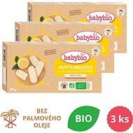 BABYBIO Sušienky s esenciálnym citrónovým olejom 3× 160 g - Sušienky pre deti