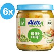ALETE BIO Zelenina shráškom a bravčovým mäsom 6× 250 g - Príkrm