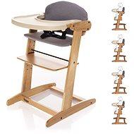 ZOPA Grow-up rastúca stolička Natur/Grey - Stolička na kŕmenie