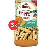 HOLLE Happy tyčinky tekvica rozmarín 3× 100 g - Chrumky pre deti
