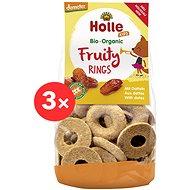 HOLLE Ovocné krúžky s datľami 3 ks - Sušienky pre deti
