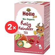 HOLLE Bio Ovocný Rosy Reindeer čaj so sladkým drievkom 2 × 30 g - Detský čaj