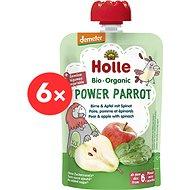Holle Power Parrot – Bio pyré hruška, jablko a špenát 6 ks - Príkrm