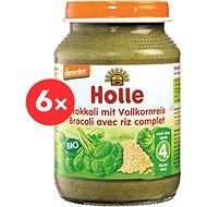 HOLLE BIO Brokolica s celozrnnou ryžou 6× 190 g - Príkrm