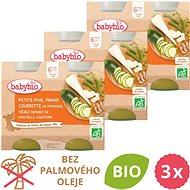 BABYBIO Hrášok, paštrnák, cuketa a teľacie mäso 3× (2× 200 g) - Príkrm