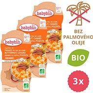 BABYBIO Paštrnák s maslovou tekvicou, kačicou a polentou 3× (2× 200 g) - Príkrm