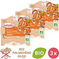 BABYBIO Dusená zelenina s jahňacím mäsom 3× 230 g - Príkrm