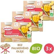 BABYBIO Jablko a mango 3× (2× 130 g) - Príkrm