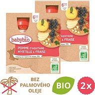 BABYBIO Jablko, čučoriedky a jahody 2× (4× 90 g)